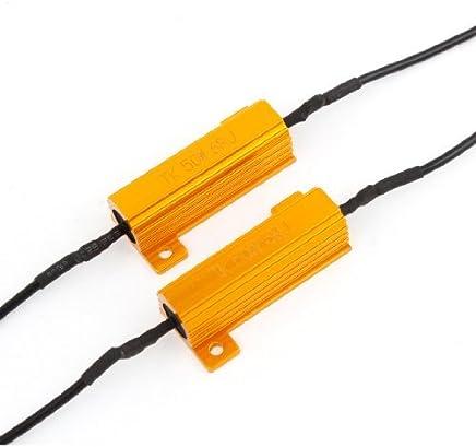 2 PCS Lámparas LED Luces de Giro del Flash Fix 50W 6ohm resistencias de carga