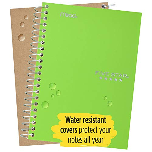 """Five Star Small Spiral Notebooks, 1 Subject, College Ruled Paper, 100 Sheets, 7"""" x 4-3/8"""", Personal Size, Assorted Colors, 12 Pack (38029) Photo #2"""