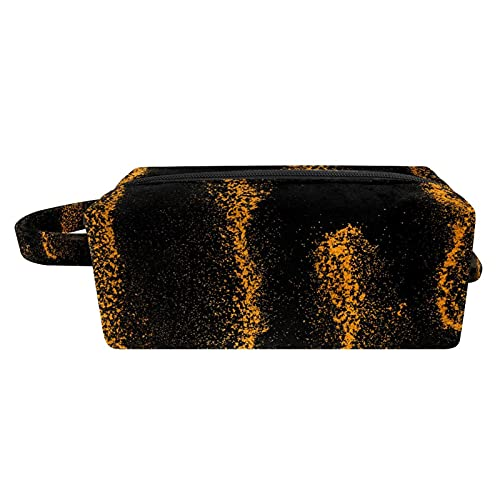 Neceser de viaje de la bolsa de maquillaje, resistente al agua, pintura de nylon rojo 21x8x9 cm