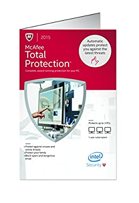 McAfee Total Protection 2015   3 Devices   PC Key Card [Old Version]