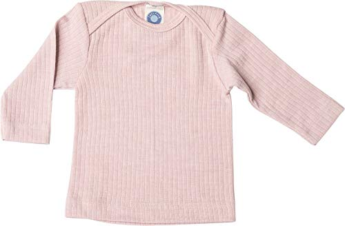 Cosilana, Baby Schlupfhemd Langarm, 45% KBA Baumwolle 35% kbT Wolle, 20% Seide (50/56, Pink meliert)