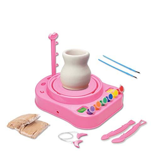 XINXI-MAO Cerámica Mini Máquina de cerámica de cerámica de Mano DIY Máquina de cerámica Ruedas de cerámica Artes de niños Artesanía Educación para niños Equipo (Color : 401 Pink)