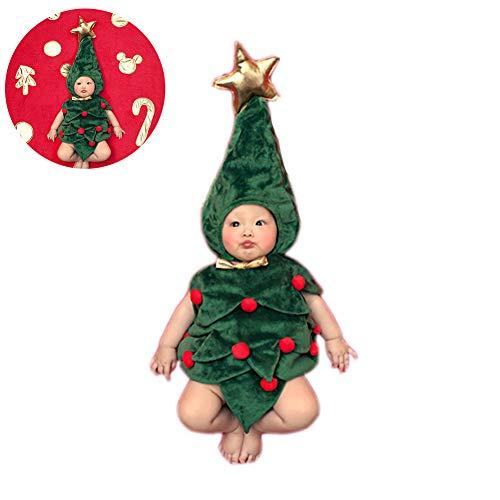 Hilai 1Set Fotografia Bambino Prop Decorazioni dell'albero di Natale per Le Vacanze Costume Tuta con Cappello di Babbo ripresa Vestiti per Il Neonato Ragazzi Ragazze Gifts