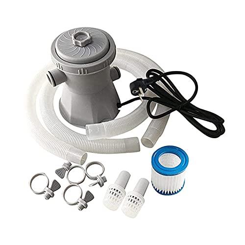perfeclan Set de Depuradora Cartucho Filtro con Accesorios Bomba con Filtro para Piscina, 15W, 300 Galones, 21x21x22cm, Gris