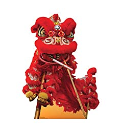 Chinese New Year Red Dragon Life Size Cardboard Cutout Standup