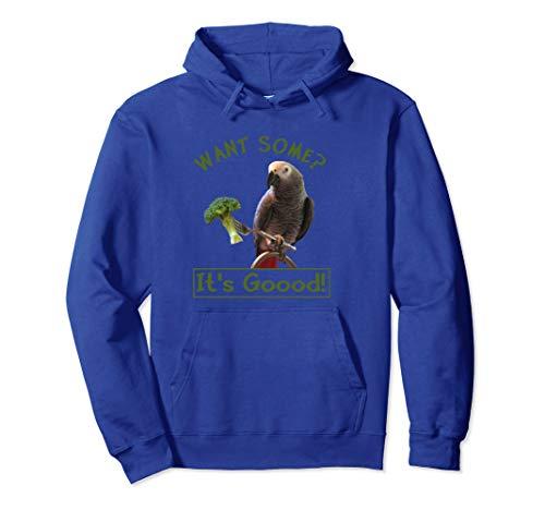 African Grey Papagei Brokkoli Pullover Hoodie