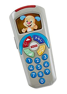 Fisher-Price 887961256321 Laugh and Learn Puppy's Remote, Electronic Educational Toddler Toy with Music, Lights, Colours and Phrases, Suitable for 6 Months Plus from Mattel