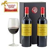 18V4-COLIS GOURMANDS - Coffret Cadeau Grands Vins Lalande-de-Pomerol Prêt à Offrir - 2 Bouteilles De Vin Rouge 75cl - Le Cadeau Idéal – Produits D'Exception - Colis Prêt à Offrir