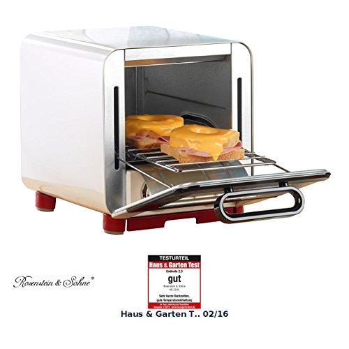 Rosenstein & Söhne Minibackofen: Kompakter Klein-Backofen für belegten Toast u.v.m, 1.000 Watt, 8 l (Mini Backöfen)