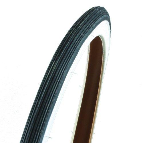 Reifen Straße 27 x 1 1/4 schwarz/weiß + Schlauch 27 x 1 1/8-1/4 mit Dunlop-Ventil