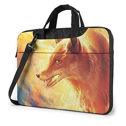 Fire Fox Laptop Bag Maletín a Prueba de Golpes Tablet Carry Handbag para Viajes de Negocios Oficina 14 Pulgadas
