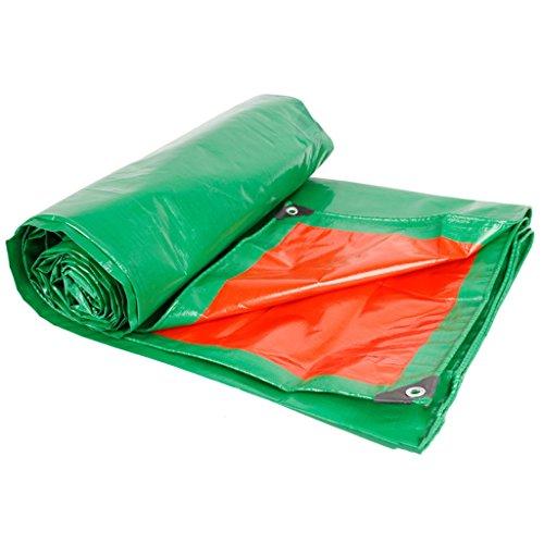Bâches de protection Épaississement Toile de bâche imperméable à la Pluie Sun Protection visière Tissu de Pluie Tissu imperméable Camion bâche Anti-UV (Color : Green, Size : 200cm*300cm)