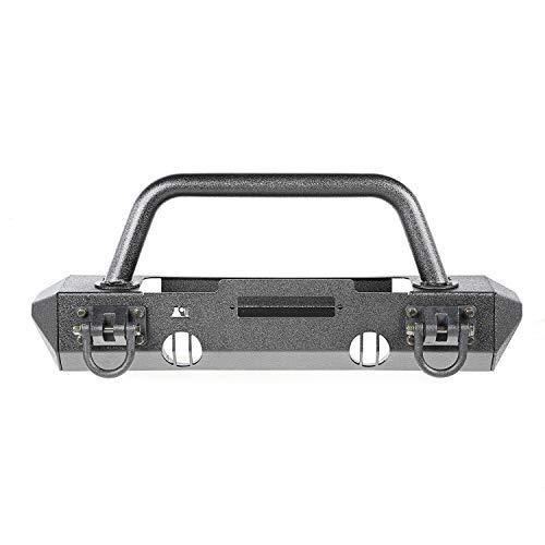 Rugged Ridge 11540.51 XHD Bumper Kit, Front, Overrider/Stubby; 07-18 Jeep Wrangler JK
