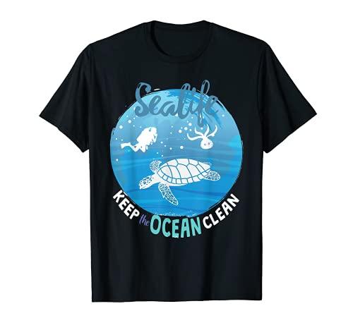 Sealife Ocean clean Turtles tee Turtle...