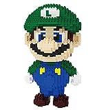 Bloques De Construcción De Super Mario Bros para Niños, 3D Puzzle DIY Juguete Educativo,Verde