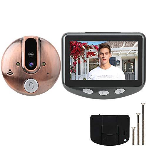 Digitaal kijkgaatje, kijkgaatje camera, deur kijkgaatje kijker HD 4,3 inch kleur + nachtzichtfunctie + 120 ° kijkhoek, elektronisch kijkgat kattenoog voor thuis/hotel