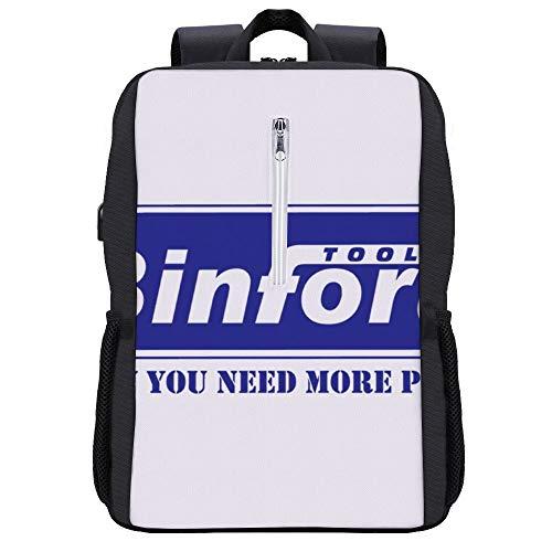 Binford Tools Heimverbesserung, Trucker-Kappe, weiß/königsblau, Rucksack, Tagesrucksack, Büchertasche, Laptop, Schultasche mit USB-Ladeanschluss