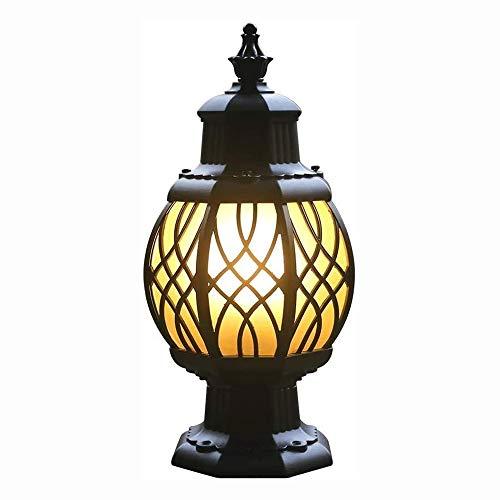 Big Shark Waterdichte buitenscholom, licht vintage patio aisle gazonzuil lamp Villa Pillar licht balkon palen lantaarn villa landschap tuinverlichting