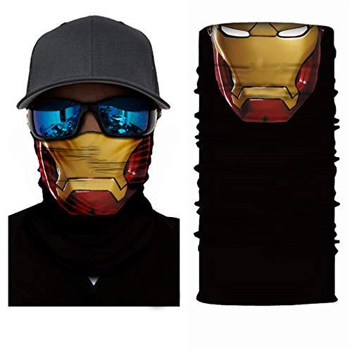 SendYouShine Sommer Hochelastische 3D Halstuch Kopftuch Radfahren Multifunktionstuch Stirnband Winddicht Motorradmaske Skifahren Kopf UV-Schutz Neck Gaiter Bandana für Herren Damen Kinder S60