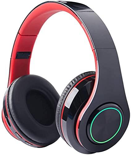 CPBY Auriculares inalámbricos Bluetooth, plegable cómodo almohadilla de proteína con micrófono, adecuado para viajes/cable PC/móvil/TV, negro