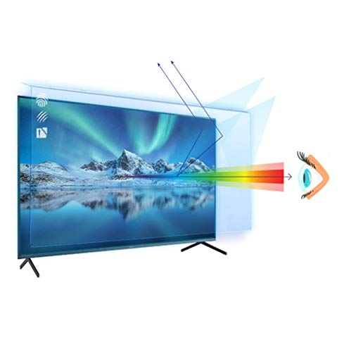 55 inch VizoBlueX Anti-Blue Light TV Screen Protector. Damage Protection Panel (48.4 x 28.9 inch) Filter Blocking UV & Blue Light from 380 to 495nm. Fits LCD, LED, 4K OLED & QLED HDTV Displays