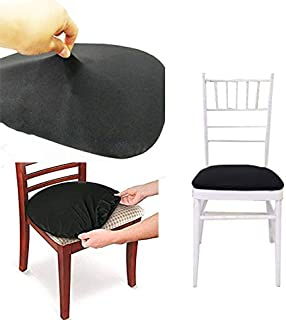 Sohapy 4 Pack Protective Stretchable Fits Round and Square Chairs Durable Protectors Cloth Chair Covers(4PCS, Black)