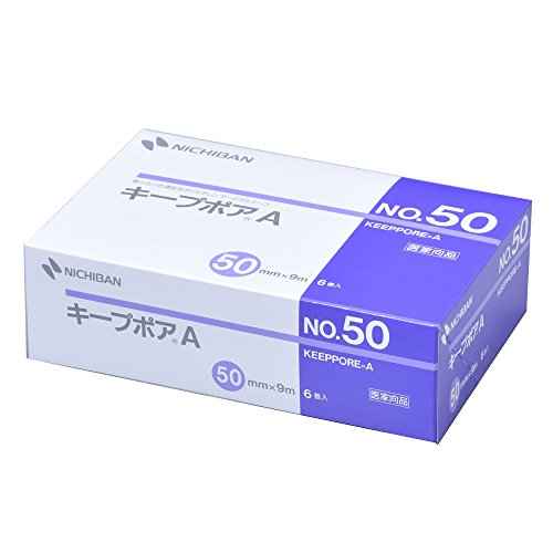 ニチバン 微小孔つきポリエチレンサージカルテープ キープポアA 50mm幅 9m巻き 6巻