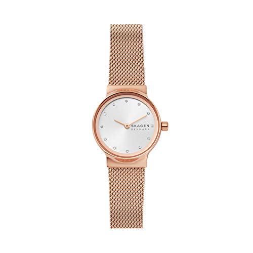 Skagen Damen Analog Quarz Uhr mit Edelstahl Armband SKW2665