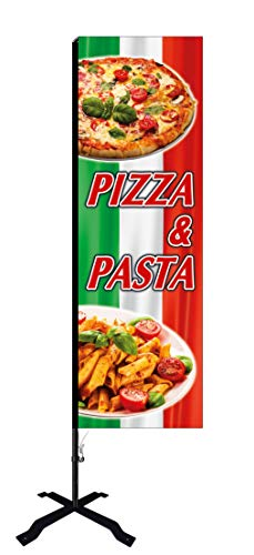 Beachflag Pizza & Pasta -ca. 275 cm hoch- SEF529-K