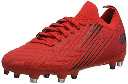 Canterbury Speed 3.0 Pro Soft Ground, Zapatillas para Rugby Hombre, Rojo Fuego/Negro, 43 EU