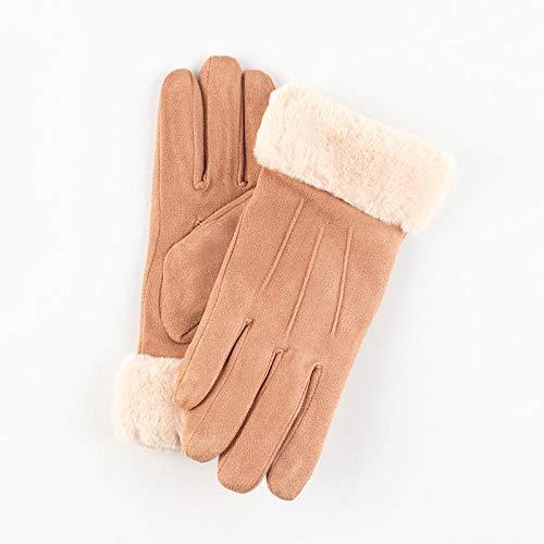 MEREDENG Guanti Five Fingers Warm Guanti Da Donna Tenere In Caldo Touch Screen Guanti Guanto Pieno Di Dita Antivento Guanti Invernali Antivento Guanti Da Guida All'Aperto - Kaki