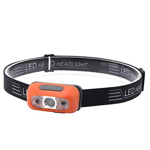 Tianluo Linterna de cabeza dedicada para faros de inducción, carga USB, para correr, al aire libre, reflectores de acampada, pesca