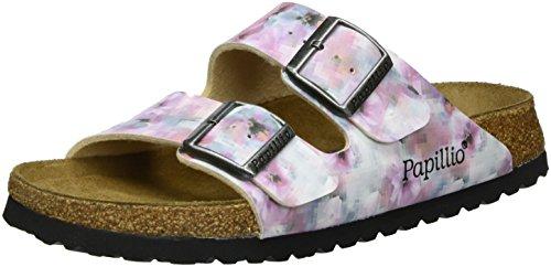 Papillio Arizona Birko-Flor Softfootbed, Damen Pantoletten, Mehrfarbig (Pixel Rose Soft), 38 EU