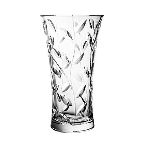 Crystaljulia Vase, Kristall, 25cm, 14 x 14 x 25 cm