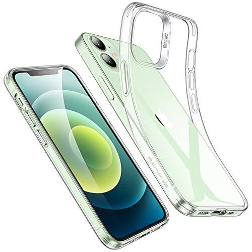 ESR Funda TPU Compatible con iPhone 12 Mini 5.4'' 2020, Carcasa Anti-Choques y Anti-Arañazos, Funda HD Claro Híbrido, Transparente