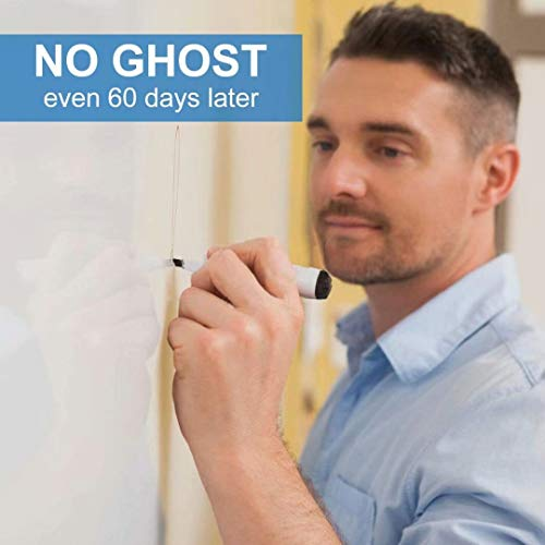 White Board Sticker, Whiteboard Paper, Upgrade PET-No Ghost, 1.45x11ft, Super Sticky, Stain-Proof Dry Erase Film Self Adhesive Wall Paper Roll for Classroom/Office/Kids Painting, 3 Dry Erase Markers Photo #2