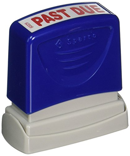 Sparco Past Due Title Stamp, 1-3/4 x 5/8 Inches, Red Ink (SPR60029)