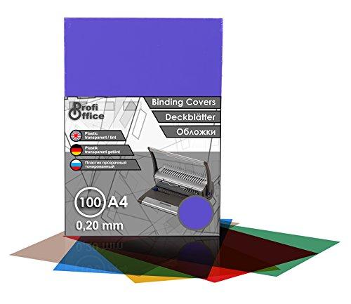 ProfiOffice® Deckblätter, DIN A4, transparent-violett-matt, 0.20 mm, 100 Stück(59021)