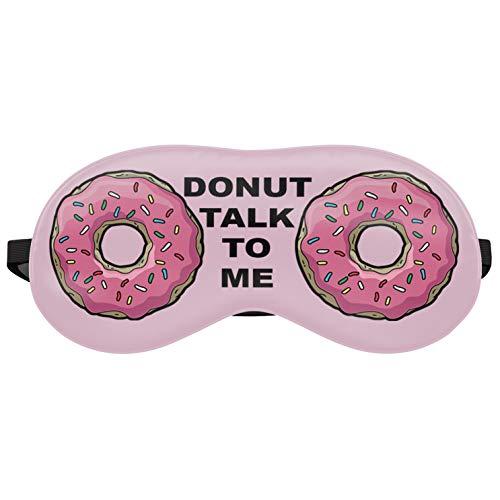 Dormir máscara Viaje Relax Ojos protectora cama Emoji Siesta Ojo encuadernado y su Donuts Rosados Pink Donuts [042]