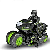 DGSPGD Control Remoto Motocicleta Puede 360 ° Rueda Giratoria Truco Motocicleta-Giro Deriva 2WD Coche De Alta Velocidad Juguete Niño Niña Regalo