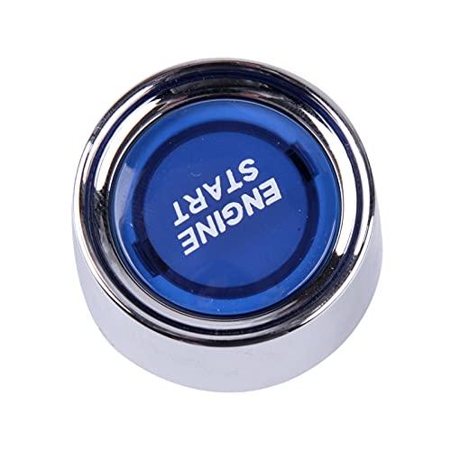 ZHANGJIN Ajuste para Piezas de reemplazo Universal Illuminación Azul Coche sin Llave Inicio de Motor Encendido Interruptor de pulsador Securador Toque Kit 12 DC