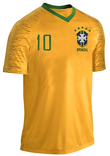 Blackshirt Company Brasilien Trikot Fußball Fan Trikot Gelb Größe M