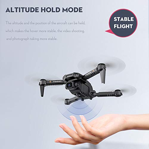 Goolsky LS-XT6 RC Drohne mit Kamera 4K-Drohne Dual-Kamera-Spur Fluggravitationssensor Geste Foto Video Höhe Halten Headless-Modus RC Quadcopter für Erwachsene Kind