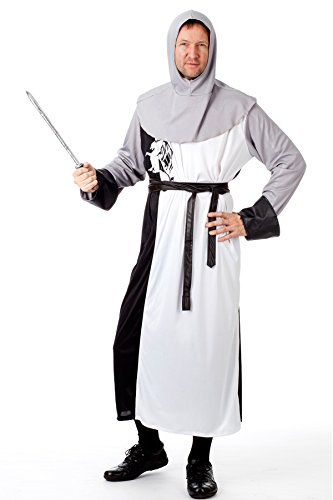 r-dessous Ritter Kostüm Herren Kreuzritter Mittelalter Chevalier Sir Lancelot Fasching Karneval Halloween Groesse: L/XL - 2