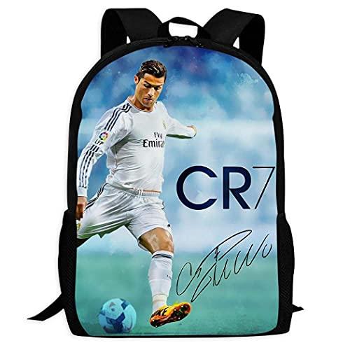 Cristiano Ronaldo 7 Rugzak Vrije tijd Volwassenen Jeugd Jongen Meisje Boek Tas College Student School Geschenken