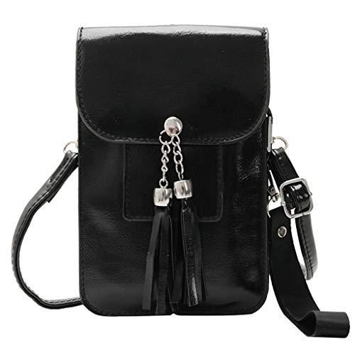 Universal Handyhülle Wasserdich Handy Umhängetasche, 2 in 1 Handtasche Schutzhülle Handy Tasche PU Leder Touchscreen Funktion Mobile Phone Bag Protective Case Handy Tasche (Schwarz)