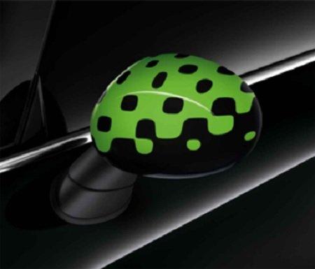 Original MINI Außenspiegelkappen Vivid Green für MINI F55 F56 F57