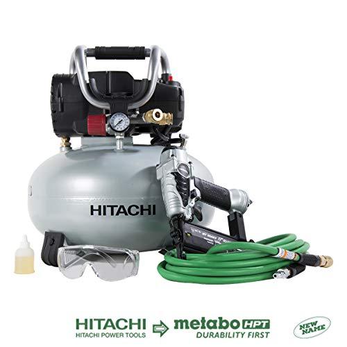 Hitachi KNT50AB Brad Nailer and Compressor Combo Kit, 6...