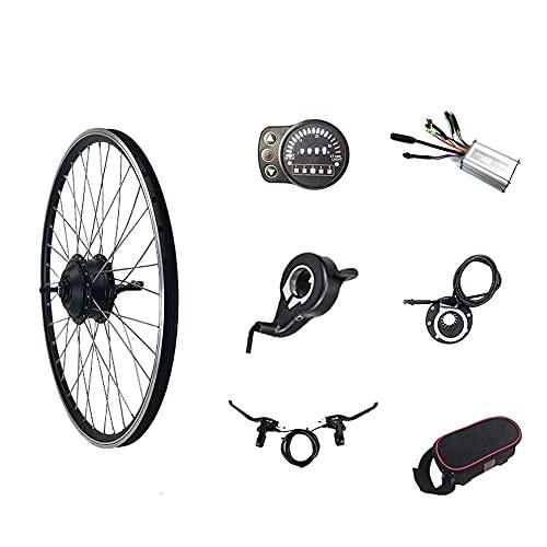 """ZYXU Kit De Conversión De Bicicleta Eléctrica, 24V 250W Kit De Conversión De Bicicleta Eléctrica KT-900S Display Kit De Conversión De Motor De Buje De Bicicleta,Rear Drive Spinning,16"""""""