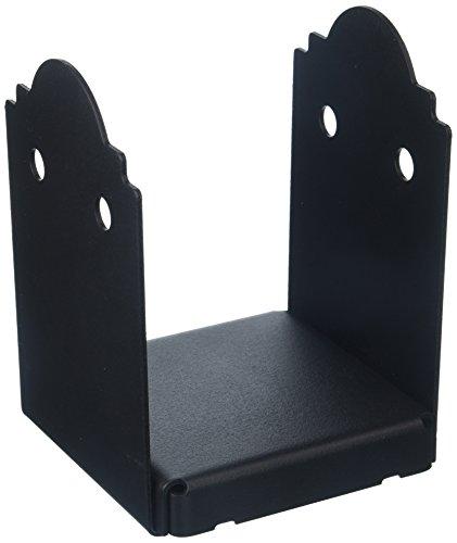 Simpson Strong Tie exterior acentos apb666-X 6-zmax galvanizado acero negro Rayones Post Base (1Pack), 6'x 6'